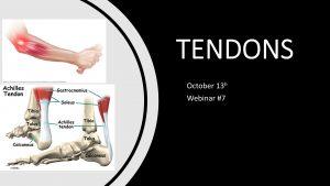 tendon webinar