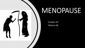 webinar on menopause
